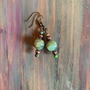 Hand made beaded earrings!